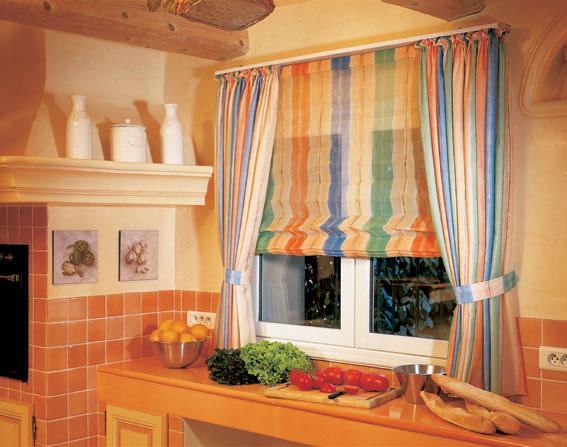 Шторы на кухню фото римские своими руками